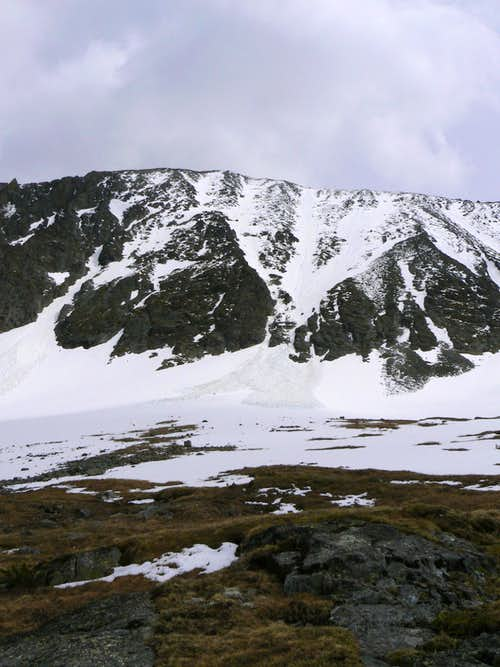 NW face of Crazy Peak