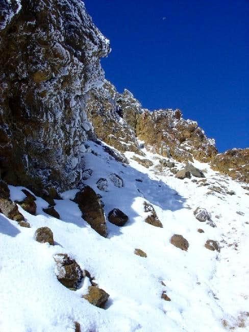 Close to the summit. Dec. 2003