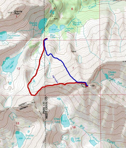 Crazy Peak Route