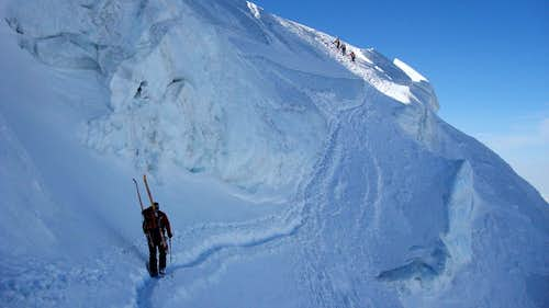 "Traverse at the ""Couloir du Gardien"""