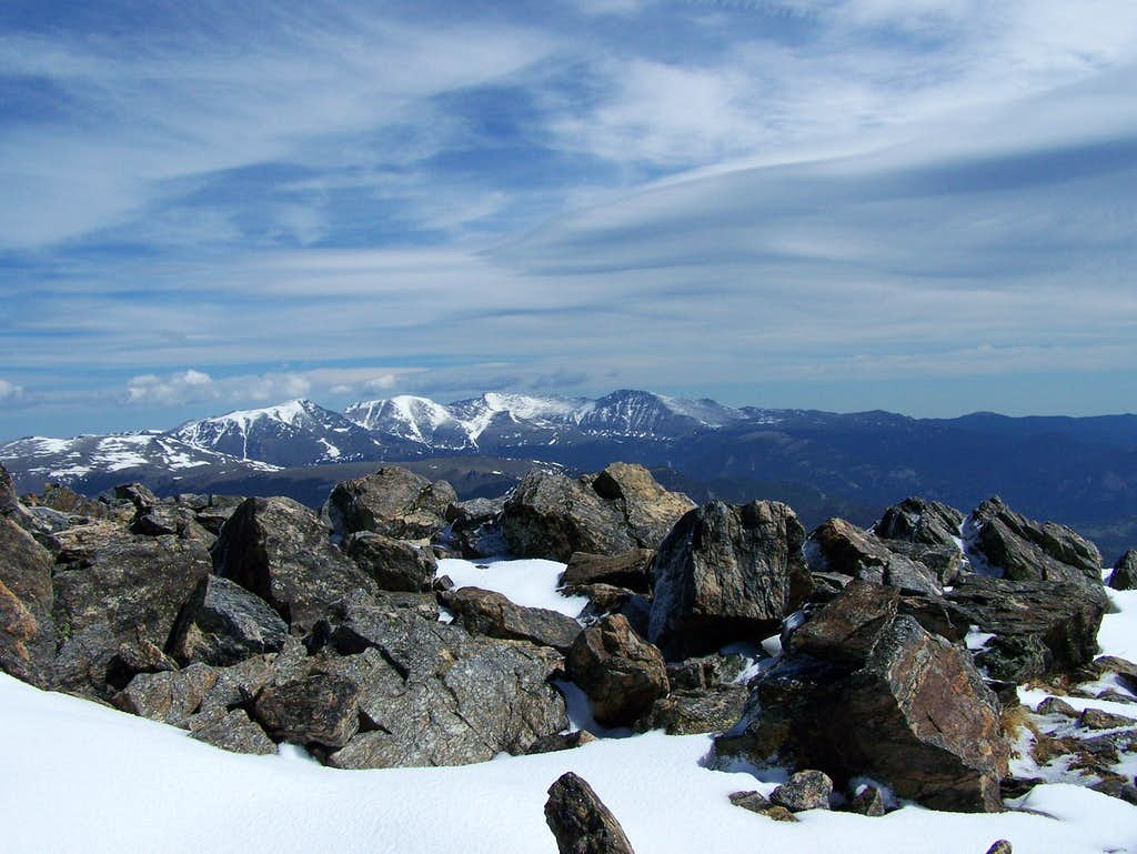 Mummy Range from the summit