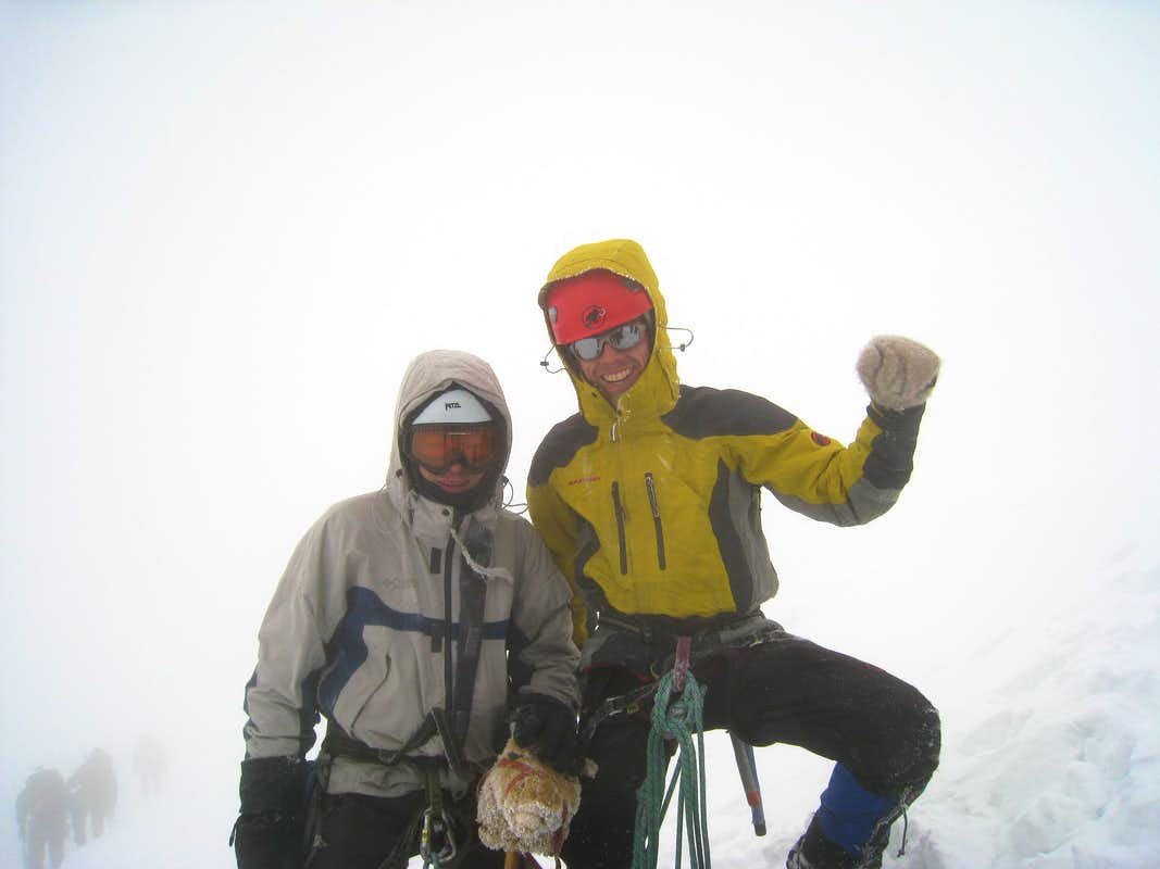 Roel, me and our horse on the summit of Mont Blanc