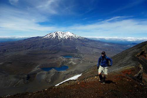 Mount Ruapehu from Mt. Ngauruhoe