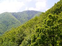 The peak of Ivanšcica as seen from the hillside of Konj