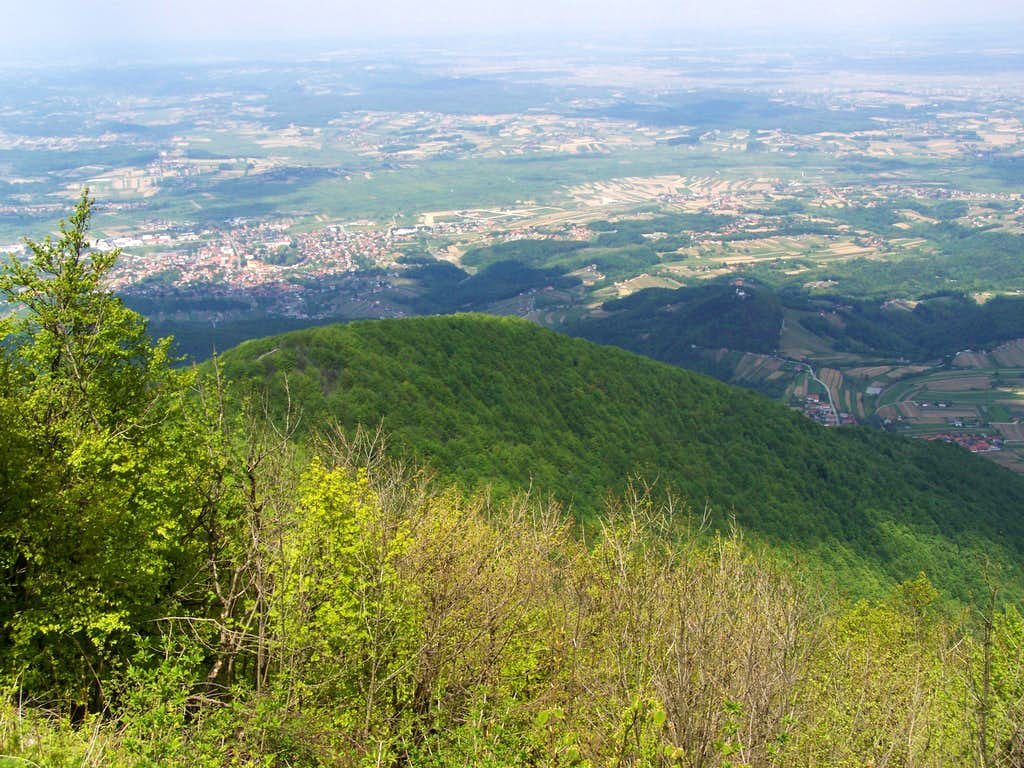 View to north from the peak of Ivanšcica