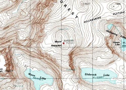 Topographical Map showing the...