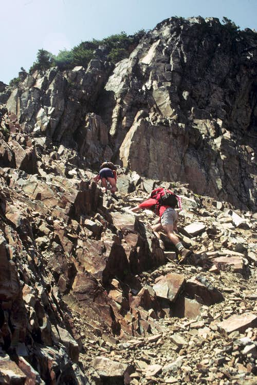 Final scramble to Gothic summit