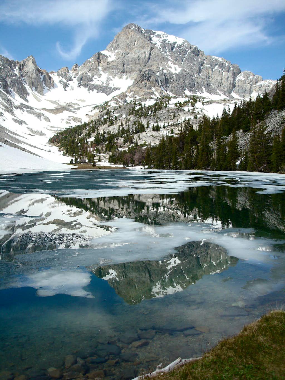 Frozen Merriam Lake View