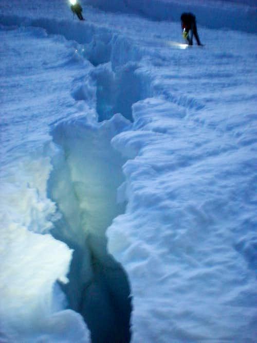 Crevasse: Ingraham Glacier
