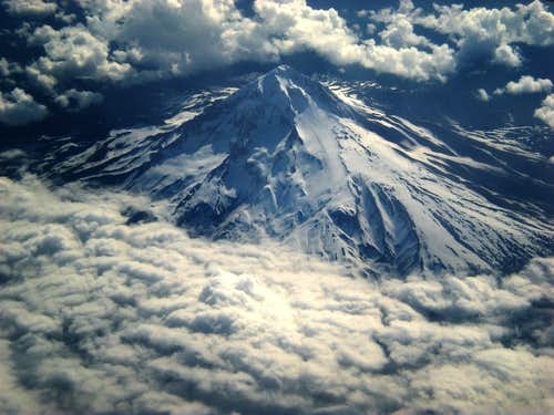 Mt. Hood: aerial view of south and west aspects