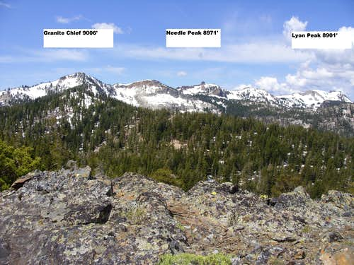 Granite Chief, Needle Peak, and Lyon Peak
