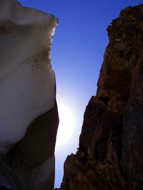 Deep inside the summit moat