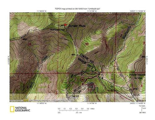 James Peak (UT) map