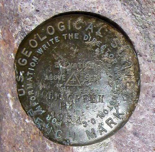 James Peak (UT) Benchmark