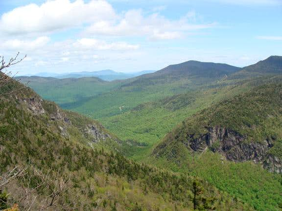 Smugglers Notch as seen from the Hell Brook Trail