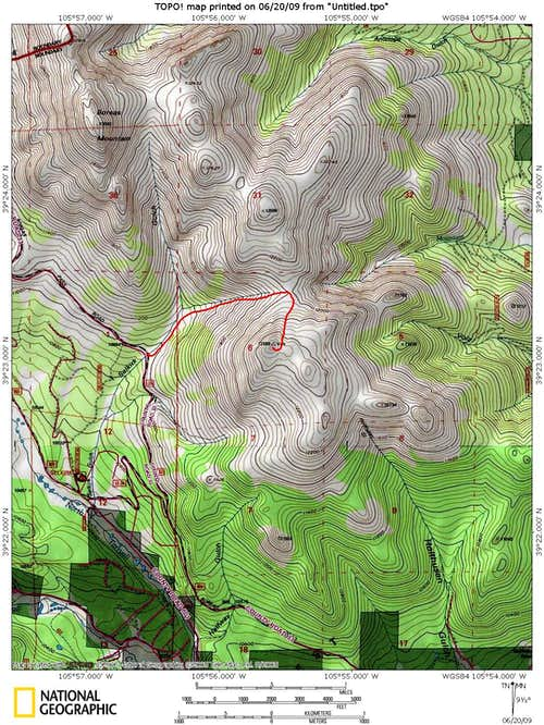 Selkirk Gulch Route