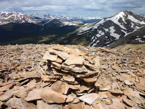 Volz Benchmark Summit Cairn