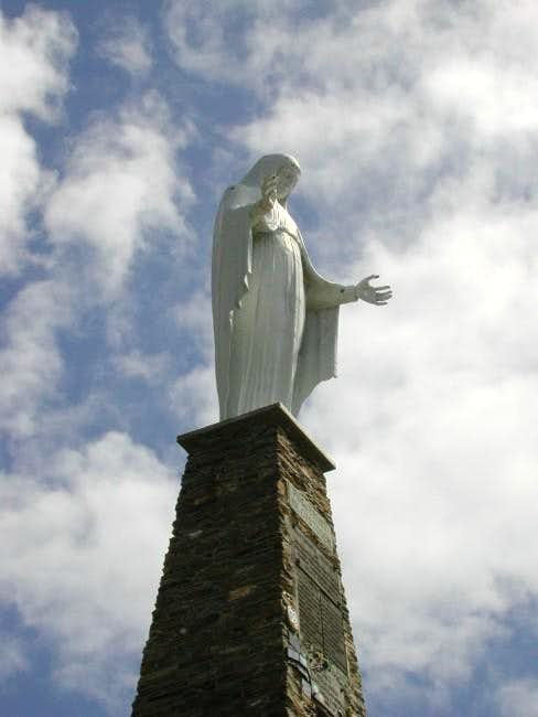 The big statue of the virgin,...