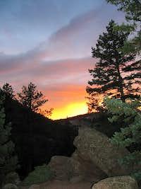 Sunset on the Flatirons
