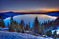Sunrise Crater Lake