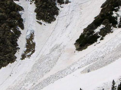 Several wet slab avalanches...