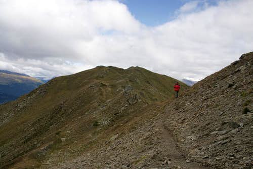 On the Plaschweller Summit Ridge