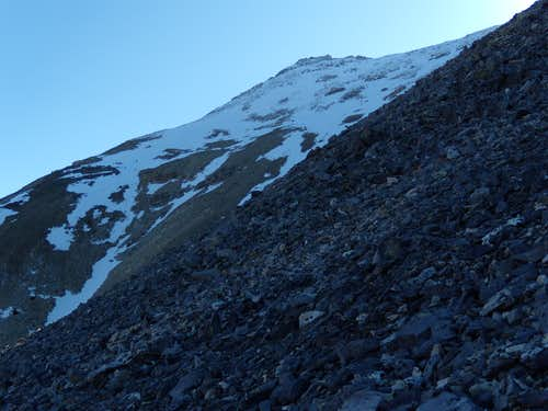 Steep talus