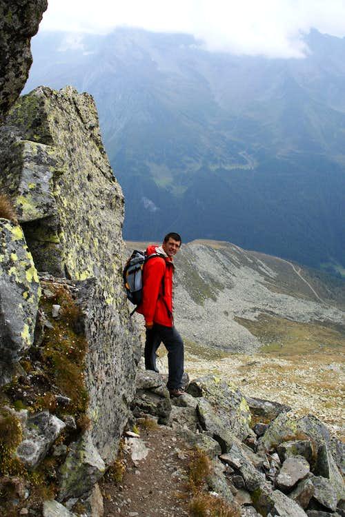 Descending from Rauhkofel