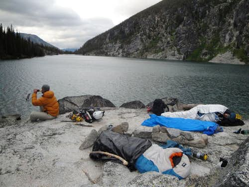 bivy at colchuck lake