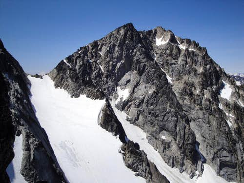 colchuck peak from the ridge