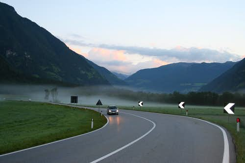 Early morning drive in Ahrntal