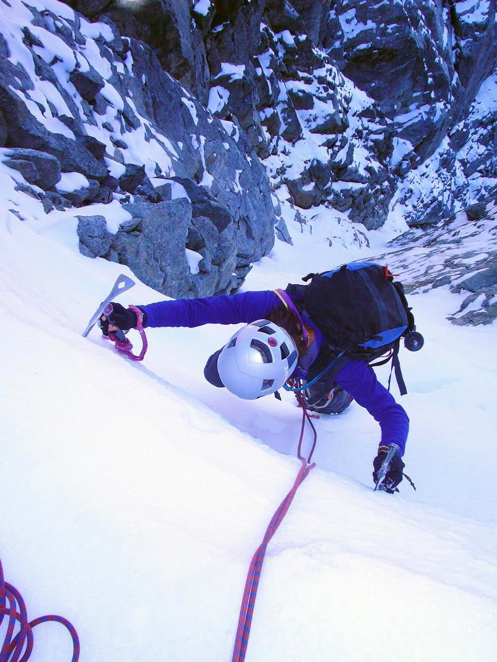 At the top of the Thread of Ice