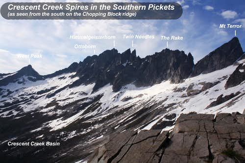 Crescent Creek Spires of Southern Pickets, North Cascades, WA