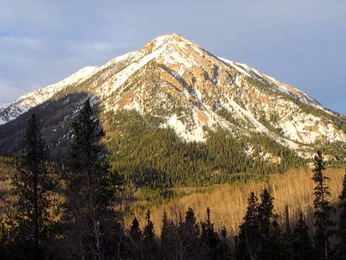 Cross Mountain (12,889\') in...