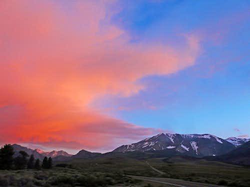 Sunset over Mt. Wood