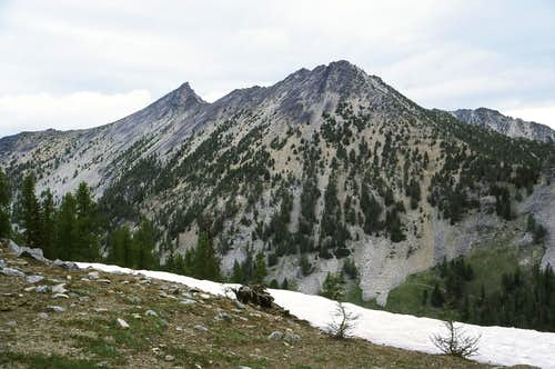 Mount Bigelow  from Pass above Boiling Lake