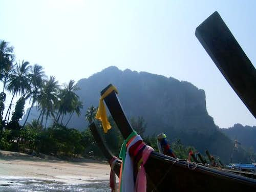 On Ao Nang Beach awaiting...