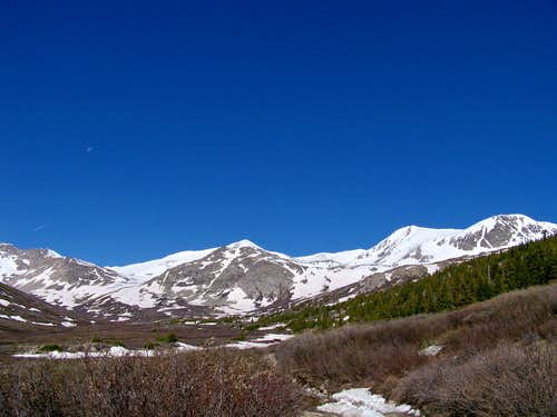 Looking up the Platte Gulch Basin