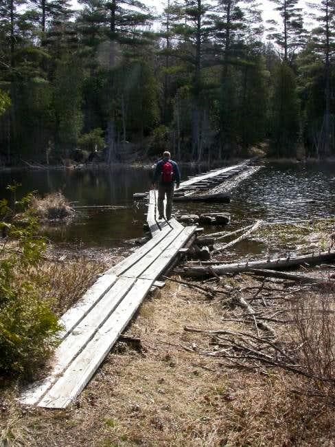 Foot bridge across Lake...