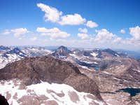 Mt. Huxley from Mt. Fiske