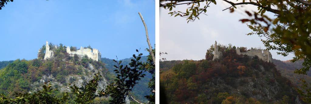 Belecgrad - castle ruin - summer/fall colors