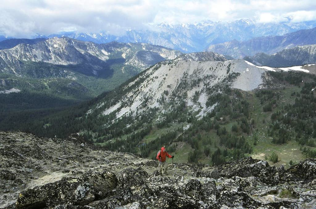 Climbing the final slopes up Mount Bigelow