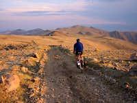 Biking toward Barcroft