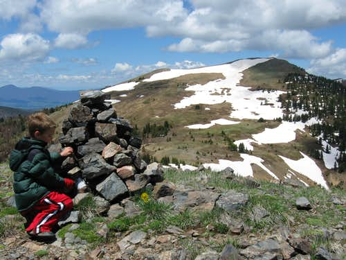 Ptarmigan Peak as viewed from the summit of Bottle Peak