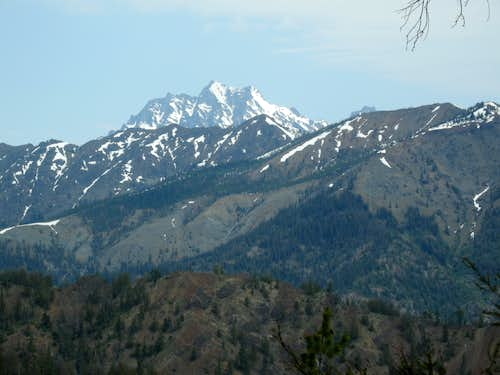 Mount Stuart from Approach to Johnson