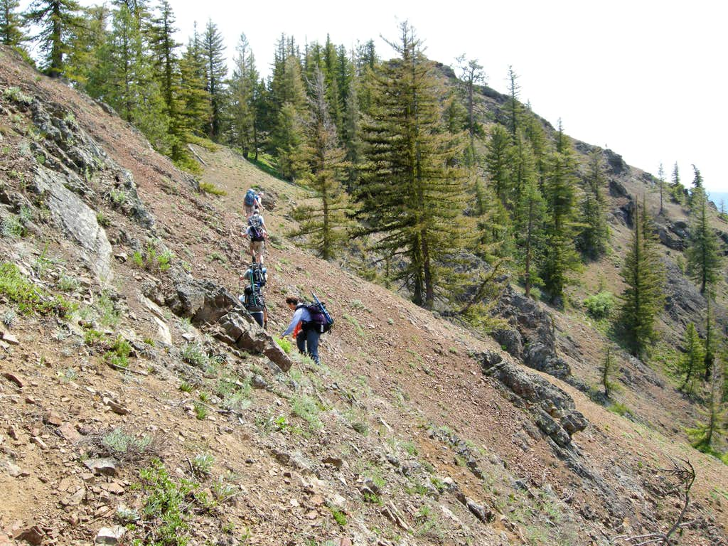Sidehilling up to Johnson