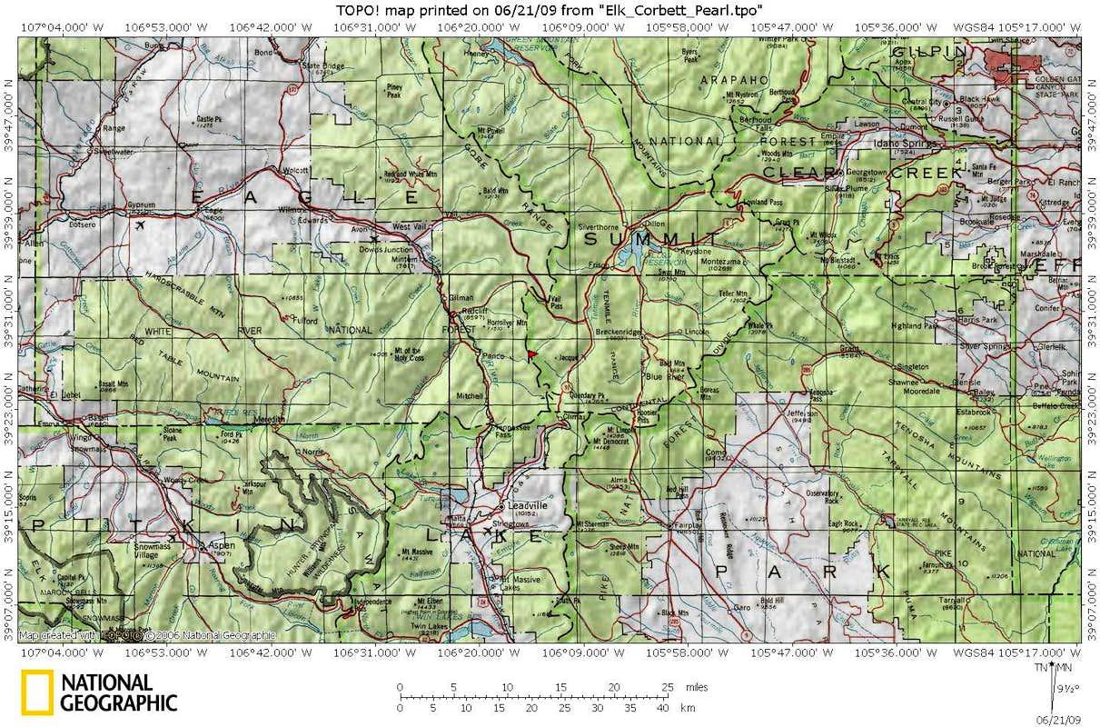 Elk Mountain Area Map  Photos Diagrams Amp Topos  SummitPost