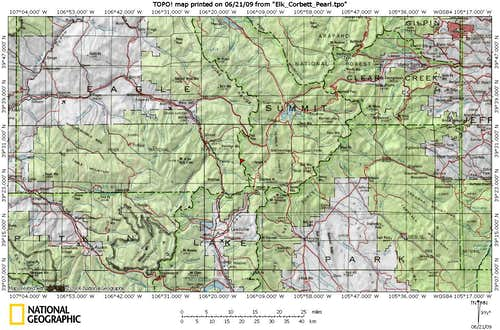 Elk Mountain Area Map