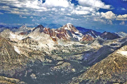 Red and White and Red Slate Mtn. from Ruby Peak