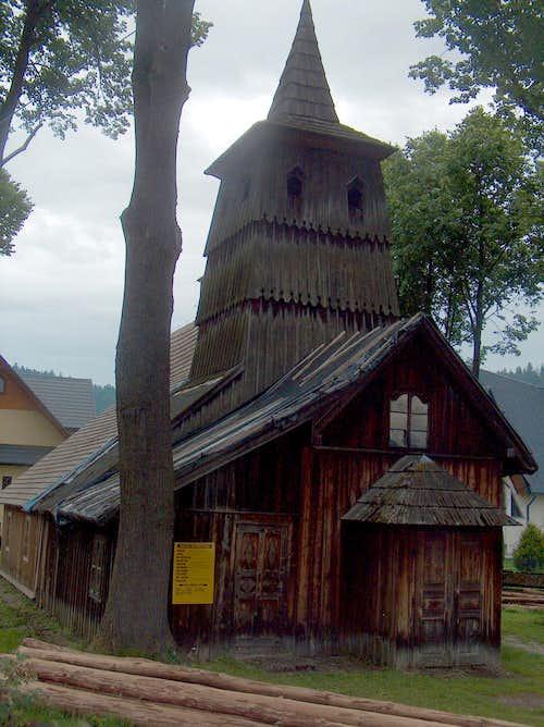 Sromowce Niżne, the old church